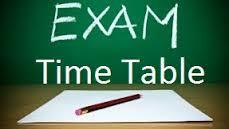 Exam time table 1